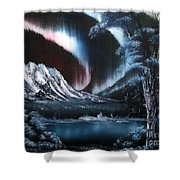 Northern Lights Aurora Borealis Shower Curtain by Cynthia Adams