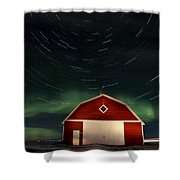 Northern Lights Canada Barn Shower Curtain