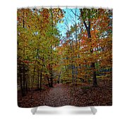 Northern Loop Trail Shower Curtain