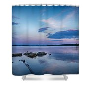 Northern Maine Sunset Over Lake Shower Curtain