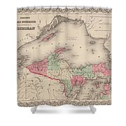 Northern Michigan And Lake Superior Shower Curtain