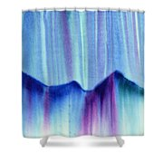 Northern Mountain Lights Shower Curtain