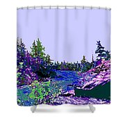 Northern Ontario River Shower Curtain