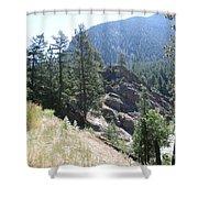Northern Rockies Missoula  Montana  Shower Curtain