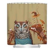 Northern Screech Owl Shower Curtain by Jasper Oostland