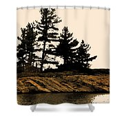 Northern Silhouette Shower Curtain