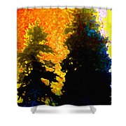 Northern Sunrise Shower Curtain