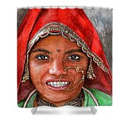 Northindian Woman Shower Curtain