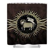 Northleach Wool Church Shower Curtain