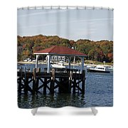 Northport Harbor Shower Curtain