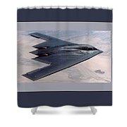 Northrop Grumman B-2 Spirit Stealth Bomber With Double Border Shower Curtain