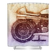 Norton Manx 2 - Norton Motorcycles - 1947 - Vintage Motorcycle Poster - Automotive Art Shower Curtain