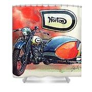 Norton Side Car Shower Curtain