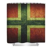 Norway Distressed Flag Dehner Shower Curtain