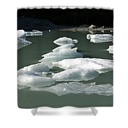 Norway, Iceberg Floating On Water Shower Curtain