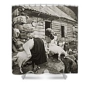Norway: Milking, C1925 Shower Curtain