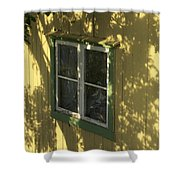 Norway, Sandvig, Shadow Of Tree On Wall Shower Curtain