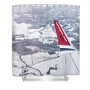 Norwegian Aerial Shower Curtain