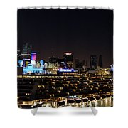 Norwegian Cruise Ship And Lunar Eclipse Shower Curtain