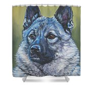 Norwegian Elkhound Shower Curtain
