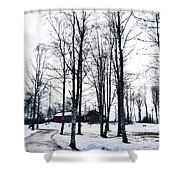 Norwegian Forest Shower Curtain