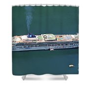 Norwegian Star In Geiranger Norway Shower Curtain