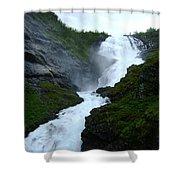 Norwegian Waterfall Shower Curtain