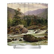Norwegian Waterfall Shower Curtain