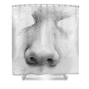 Nose Study - Front Shower Curtain