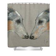 Nose To Nose Shower Curtain