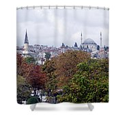 Nostalgia Of The Autumn In Istanbul Shower Curtain