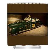 Nostalgia - Wind Up Car Toy Shower Curtain