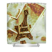 Nostalgic Mementos Of A Paris Trip Shower Curtain