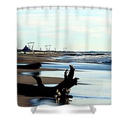 Not A Soul Grand Bend Shower Curtain