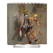Pow Wow Not Alone Shower Curtain