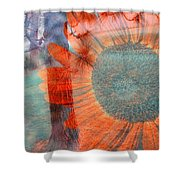 Not Another Sunflower Shower Curtain by Myrna Migala