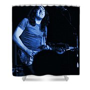 Not Awake Yet Blues Shower Curtain