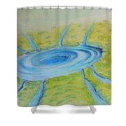 Not Everything Goes Down The Drain Shower Curtain