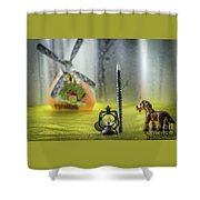 Not For Your Quirks Friend Stands Nearby Shower Curtain