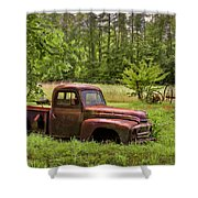 Not Forgotten Shower Curtain by Debra and Dave Vanderlaan