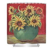 Not Just Sunflowers Shower Curtain