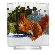 Not Much Goes On In The Mind Of A Squirrel Shower Curtain