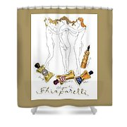 Not Shocked Shower Curtain by ReInVintaged