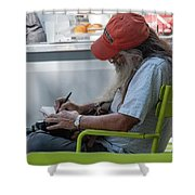 Notes Shower Curtain