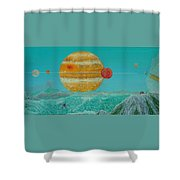 Nothing But Teal Skies Do I See Shower Curtain