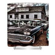 Nothing Buy Skies And Chevy's 2 Shower Curtain by John De Bord