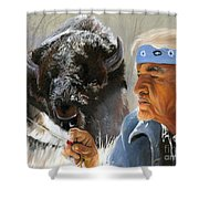 Nothing Is Ever Forgotten Shower Curtain by J W Baker