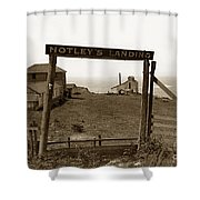 Notleys Landing Big Sur Coast By L. S. Slevin  May 1919 Shower Curtain