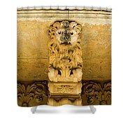 Noto, Italy - Detail Of Baroque Balcony, 1750 Shower Curtain
