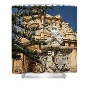 Noto Sicilian Baroque - Church Of San Domenico On A Bright Sunny Day Shower Curtain